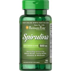 Spirulina 500 mg100 Tablets