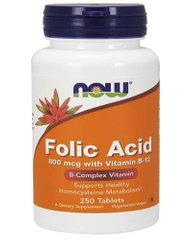 Folic Acid 800 мкг with Vitamin B-12 - 250 таб