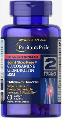 Triple Strength Glucosamine, Chondroitin & MSM Joint Soother®60 Caplets