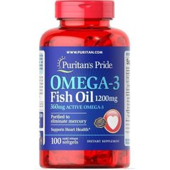 Omega-3 Fish Oil 1200 mg (360 mg Active Omega-3)200 Softgels