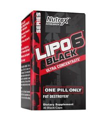 Жироспалювач Lipo-6 Black Ultra Concentrate 60 black-caps