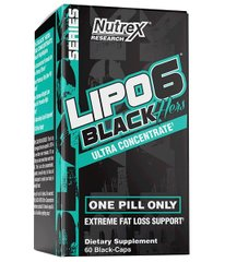 Жироспалювач Lipo-6 Black Hers Ultra Concentrate 60 black-caps